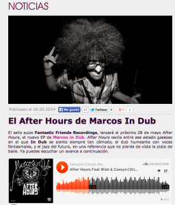 Clubbing Spain Support Marcos in Dub