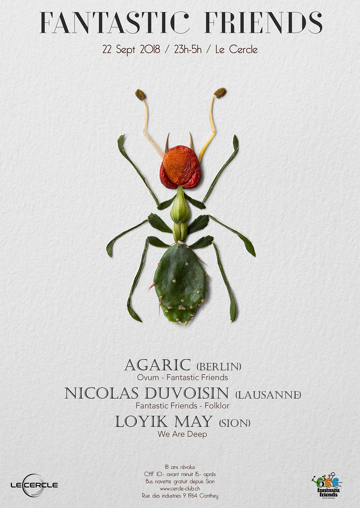 FANTASTIC FRIENDS PARTY ! WITH AGARIC & NICOLAS DUVOISIN 22.09.18