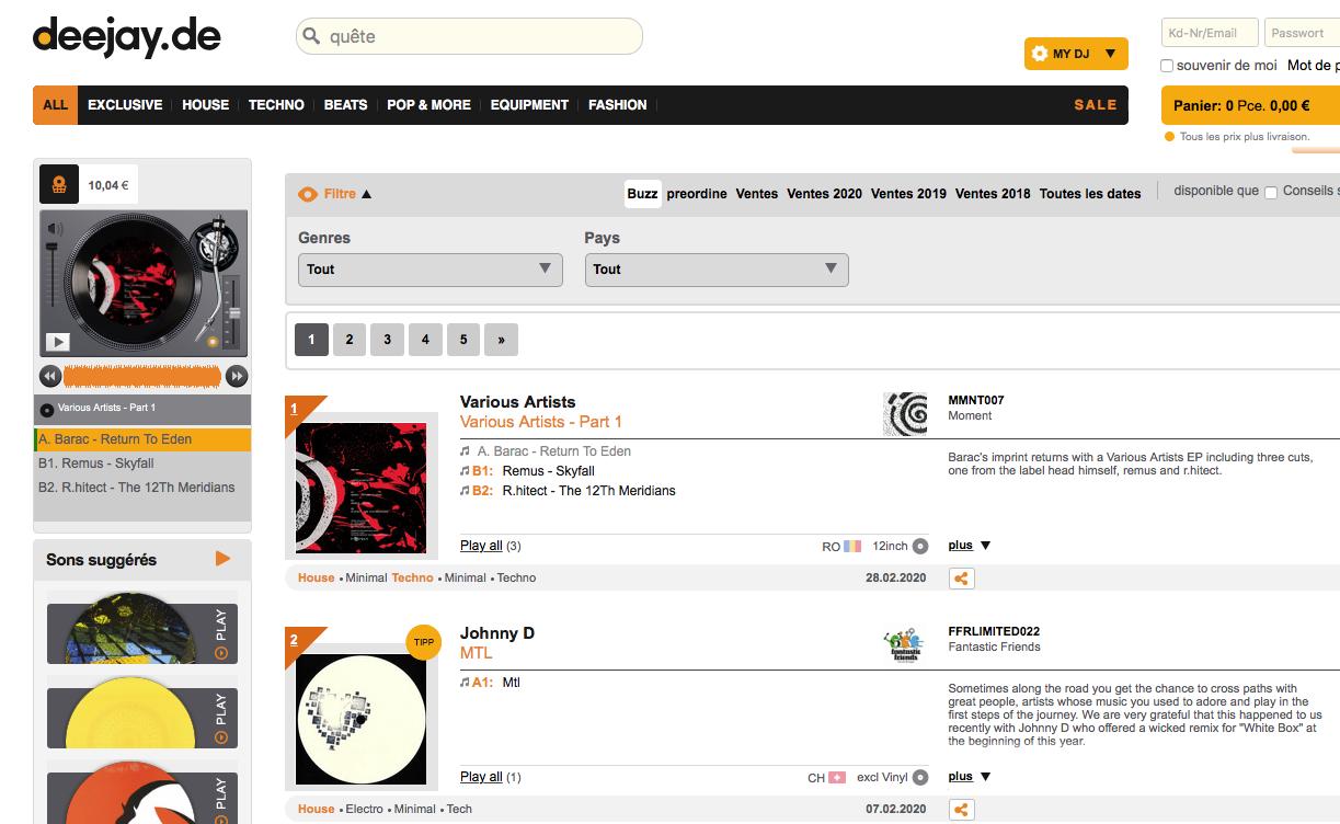 Buzz Chart #2 position deejay.de