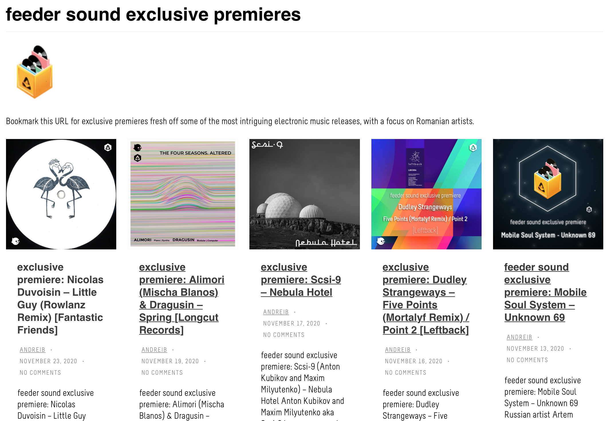 """FEEDER RELAYS OUT LATEST  RELEASE """"LITTLE GUY"""" Nicolas Duvoisin (Rowlanz Remix) on premiere"""