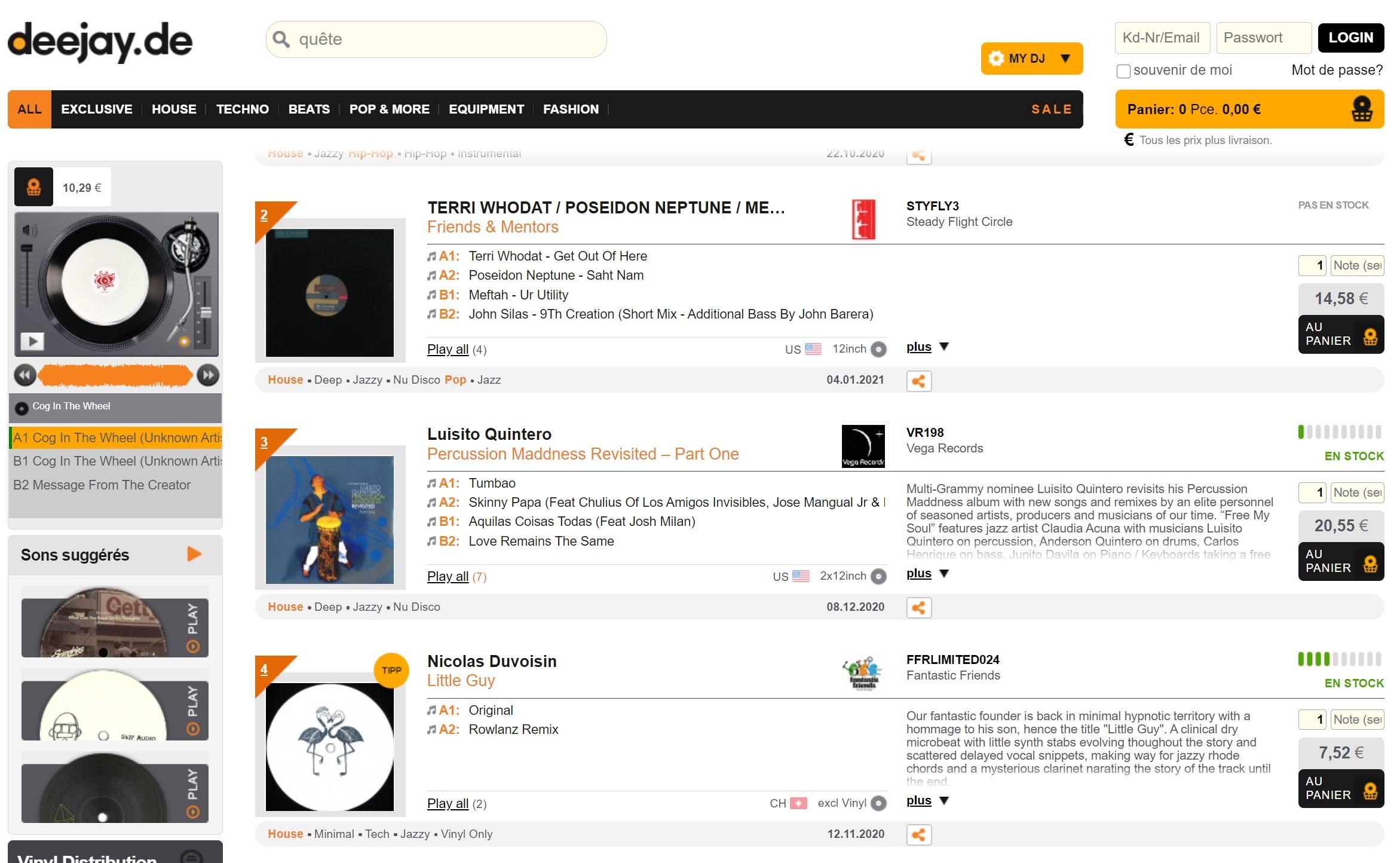 Vinyl lovers stil on the chart