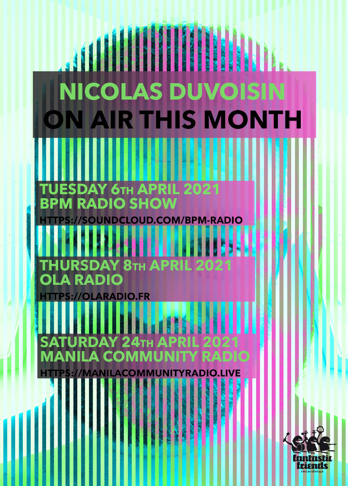Nicolas Duvoisin - On air this month